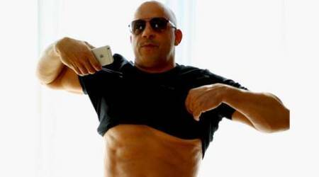 Vin Diesel answers 'body-shamers' with six-pack absphoto