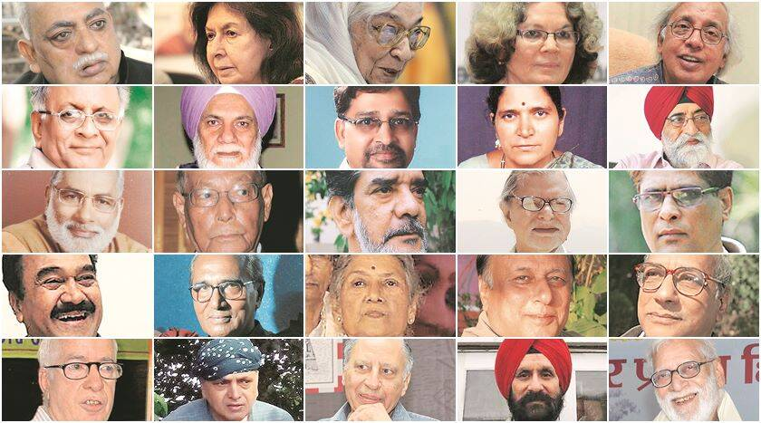 Sahitya Akademi, Writers protest, Writers Sahitya Akademi Awards, Writers return Sahitya awards, Narendra Dabholkar killed, M M Kalburgi death, Govind Pansare death, Dadri lynching, Mohammed Akhlaq killed, Communal violence, Nation news, india news, the indian express