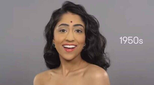 What does 100 years of Indian beauty look like?