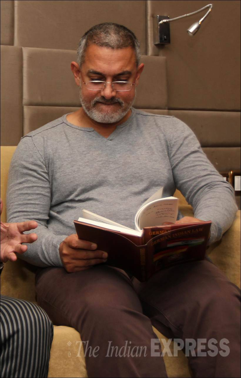 Image result for aamir khan reading