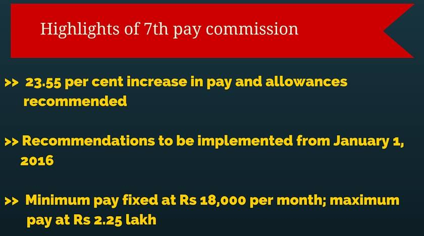 Highlights of the 7th Pay Commission report | Picture