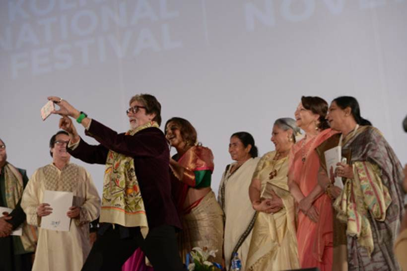 amitabh bachchan, kolkata film festival, vidya balan, jaya bachchan, sharmila tagore, mamata banerjee, kiff, big b, amitabh bachchan pictures, amitabh bachchan kolkata film festival, amitabh bachchan vidya balan, entertainment, bollywood