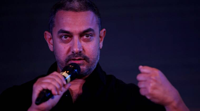 Aamir Khan, Intolerance, Congress, Congress aamir khan, #RNGAwards, Ramnath Goenka awards, Aamir Khan Congress, BJP, Aamir on intolerance, kiran Rao, Aamir kiran rao, Kiran Rao intolerance, The indian express, Aamir RNG awards