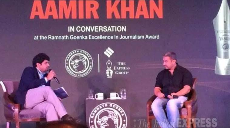 aamir khan, kiran rao, aamir intolerance, aamir RNG awards, aamir kiran, aamir kiran india, aamir khan muslim, aamir khan award, aamir khan wife, aamir khan express, aamir express, ramnath goenka award, #RNGAwards, muslim terrorists, hindu terrorists, aamir journalism, journalism awards, aamir at goenka award, aamir,
