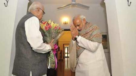 L K Advani, Narendra Modi, Advani birthday, modi greets advani, Modi meets Advani, L K Advani birthday, Nation news, india news