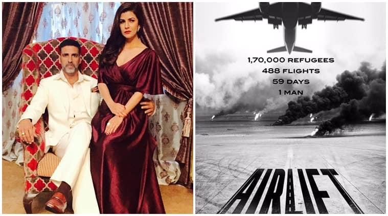 akshay kumar, airlift, nimrat kaur, airlift poster, airlift first look, akshay kumar movies, akshay kumar nimrat kaur, nimrat kaur airlift, entertainment news