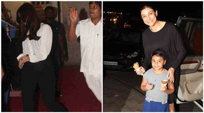 Aishwarya Rai hides from paparazzi, Sushmita enjoys ice-cream date with daughter