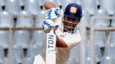 Mumbai : UP cricketer Piyush Chawla plays a shot during Ranji trophy match against Mumbai, at Wankhede Stadium in Mumbai on Tuesday. PTI Photo (PTI11_10_2015_000141A)