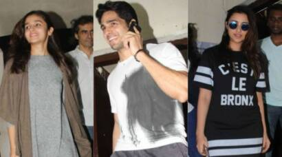 Alia, Sidharth, Parineeti watch 'Tamasha'