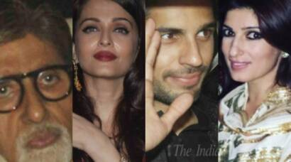 Amitabh Bachchan, Aishwarya Bachchan, Sidharth Malhotra, Akshay Kumar, Twinkle Khanna