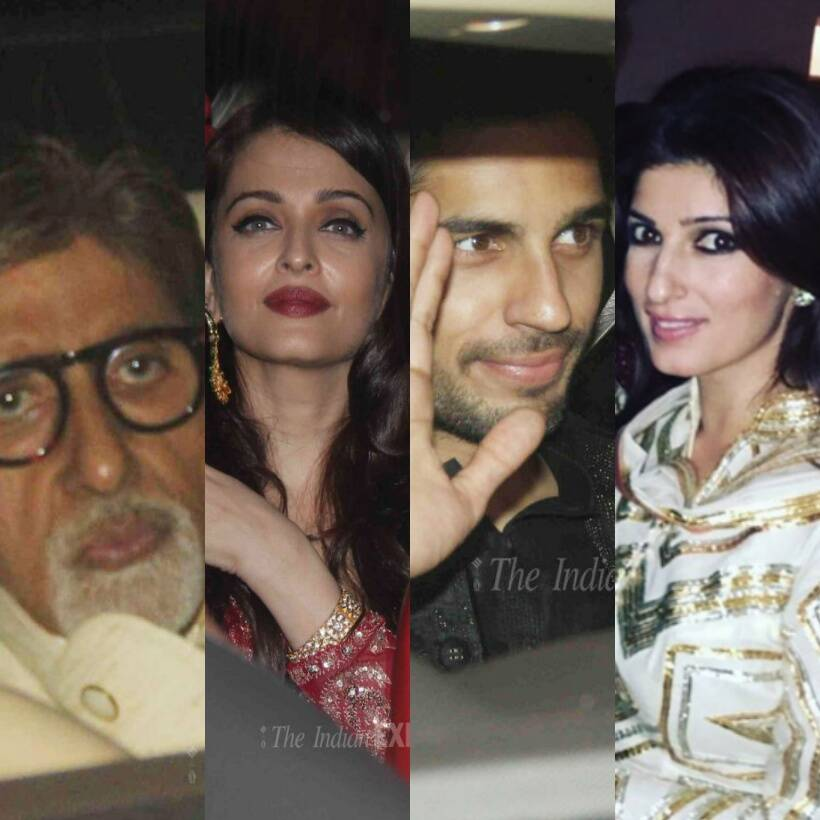 Amitabh Bachchan, Aishwarya Rai Bachchan, Abhishek Bachchan, Jaya Bachchan, Akshay Kumar, Twinkle Khanna, Karan Johar, Sidharth Malhotra, Rishi kapoor, Neetu Singh Kapoor, Lara Dutta, Madhavan, Manish Malhotra, Reema Jain, Anu Dewan, Dabboo Ratnani, Riteish Deshmukh, Genelia D'Souza, Karisma Kapoor, Ekta Kapoor, Jitendra, Kirron Kher, Suniel Shetty, Mana Shetty, Tusshar Kapoor, David Dhavan, Diwali party, bollywood, entertainment