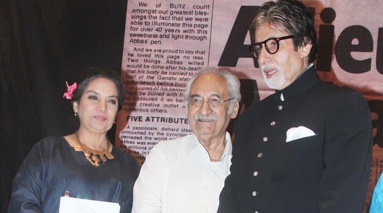 Amitabh Bachchan, Shabana Azmi, Amitabh Bachchan book launch, Shabana Azmi book launch, Amitabh Bachchan Khwaja Ahmad Abbas, Shabana Azmi Khwaja Ahmad Abbas