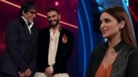Ranveer Singh, Parineeti Chopra on Amitabh Bachchan's televisionshow
