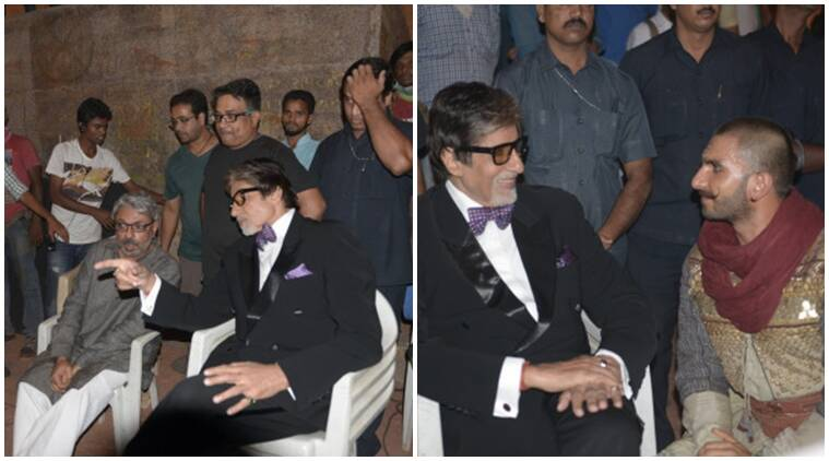 Image result for amitabh on set