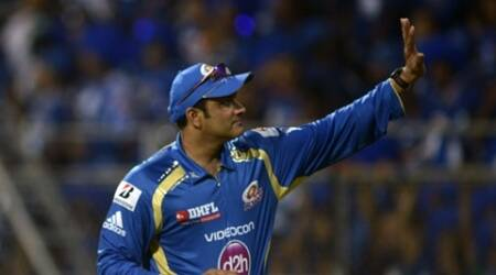 Mumbai Indians' chief mentor Anil Kumble (s) acknowledges to spectators. Express photo by Kevin D'souza
