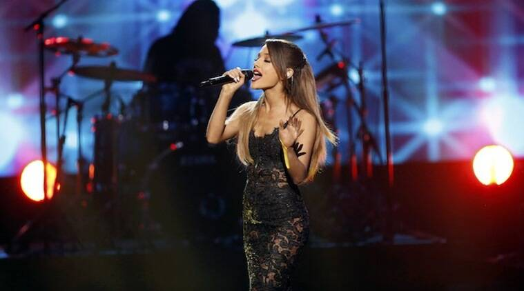 Ariana Grande, Ariana Grande Concert, Phone thrown at Ariana Grande, Ariana Grande Fan Throws phone, Ariana Grande Live Concert, Ariana Grande songs, Entertainment news