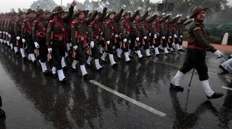 The Assam Rifles regiment parading on Republic Day (Express file photo)