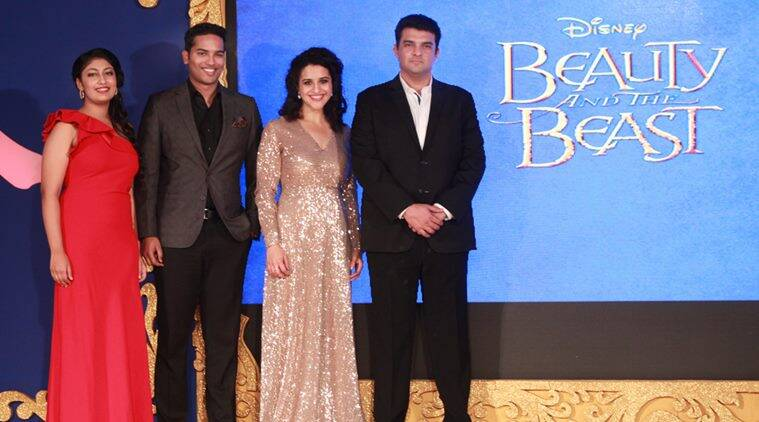 Disney India, managing director, Siddharth Roy Kapur (extreme right) during a press meet regarding the stage musical show Beauty and The Beast. (Source: IANS)