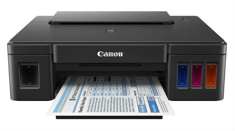 Canon's latest Pixma G series printers come with refillable ink tanks and a print yield of up to 6000 pages (Source: Canon India)