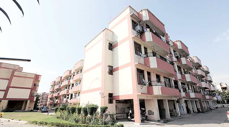 A group housing society in Chandigarh. (Express Archives)