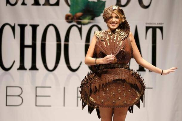 To eat or to wear? The question in everyone's mind at the Chocolate Fashion Show