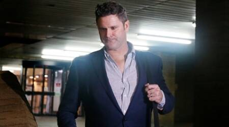 Former New Zealand cricketer Chris Cairns leaves Southwark Crown Court in London,  Friday, Nov. 27, 2015. Cairns must wait until Monday at the earliest to learn the result of his perjury trial after jurors failed to reach a verdict following a second day of deliberations. The 45-year-old is accused of lying during a libel action against Indian Premier League founder Lalit Modi, and is facing charges of perjury and perverting the course of justice. (AP Photo/Kirsty Wigglesworth)