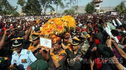 Family and friends pay last respects to Colonel Santosh Mahadik