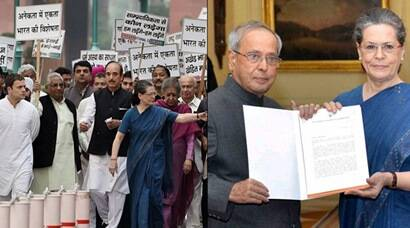 Congress, Congress March, Congress Protest Against intolerance, intolerance, Sonia Gandhi, Rahul Gandhi, modi, pm Modi, Pranab Mukherjee, Manmohan Singh, Congress News, Delhi News, India News
