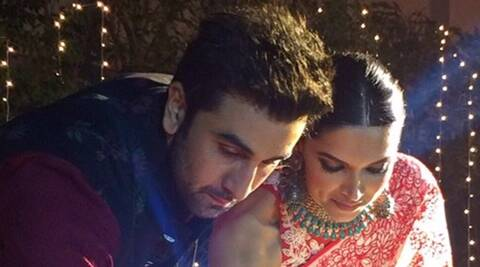 Deepika Padukone, Ranbir Kapoor get playful on Diwali date in Delhi