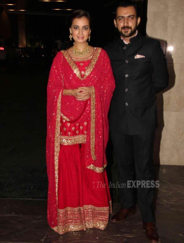 Dia Mirza, Dia Mirza wedding reception Masaba, Sahil Sangha