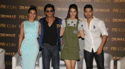 Shah Rukh, Kajol, Kriti, Varun launch 'Dilwale' song, 'Manma Emotion Jaage'