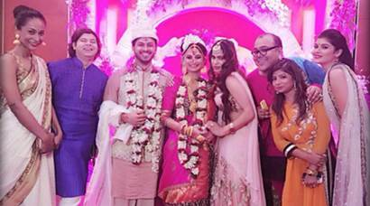Dimpy Ganguly's wedding  pictures
