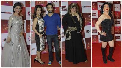Divyanka, Karan Patel, Kritika Kamra, Rakhi Sawant at Indian Telly Awards