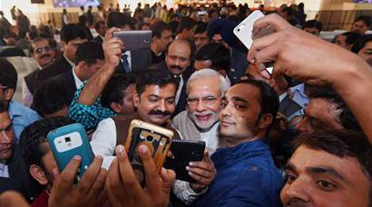 PM Narendra Modi hosts 'Diwali Milan' for journalists