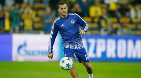 Football Soccer - Maccabi Tel Aviv v Chelsea - UEFA Champions League Group Stage - Group G - Sammy Ofer Stadium, Haifa, Israel - 24/11/15 Chelsea's Eden Hazard warms up before the match Action Images via Reuters / John Sibley Livepic EDITORIAL USE ONLY.