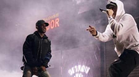 Eminem surprise crowd with performance at Big Sean'sconcert