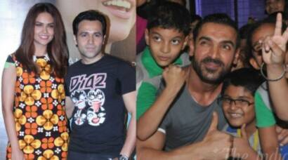 Esha Gupta-Emraan Hashmi at song launch; John goes back to school