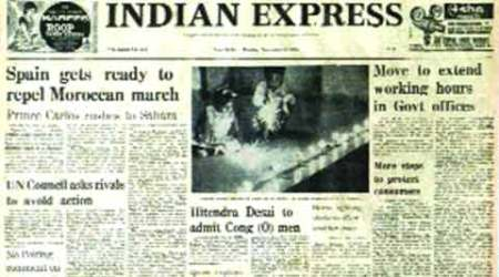 Indian Express, Indian Express front page, Indian Express newspaper