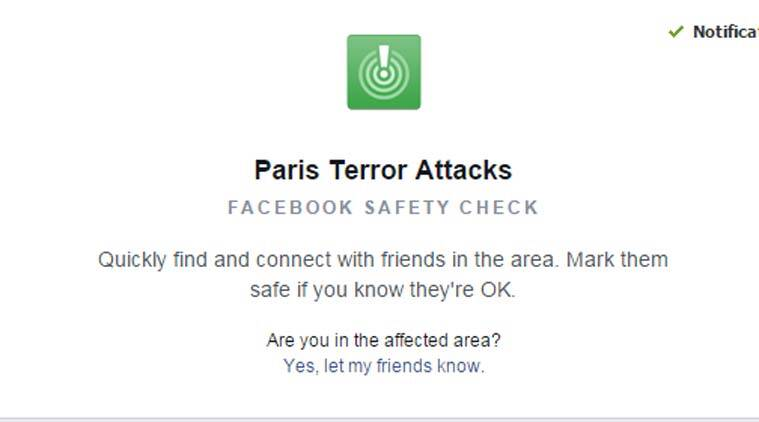 Paris Terror attack, Facebook Safety Check, Paris safety check, Paris safety, Facebook, Facebook Paris Safety Check, Safety Check on Facebook, Paris attacks, Paris terrorists, Paris death toll, Paris, Paris news, Paris latest news, technology, technology news