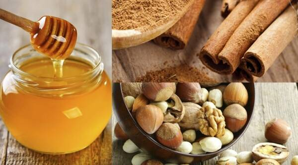 Ginger and honey are rich in antibacterial properties while nuts are a good source of vitamins and fibre. (Source: Thinkstock)