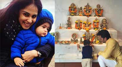 Riteish, Genelia's son Riaan turns one