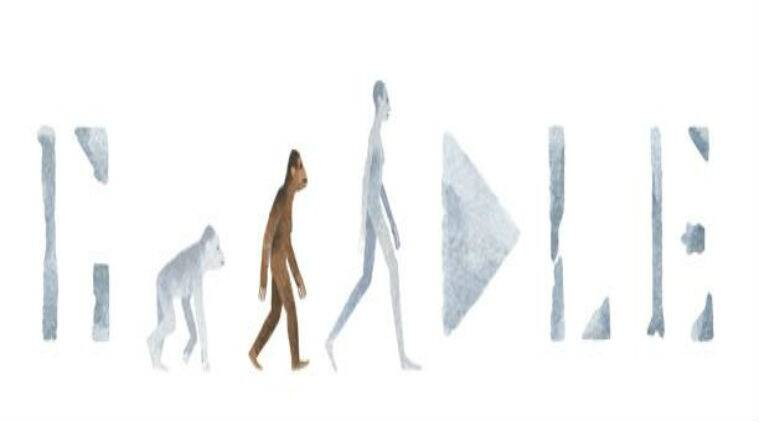 Today's Google Doodle celebrates the discovery of 'Lucy'/ Screenshot