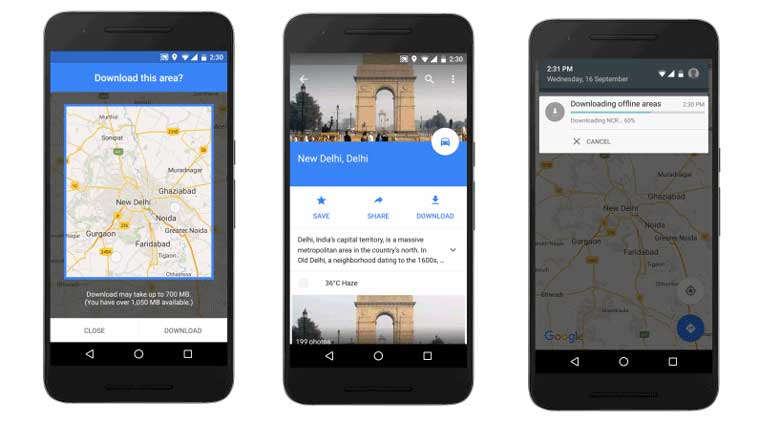 Google Maps Offline with turn-by-turn directions now available in ...