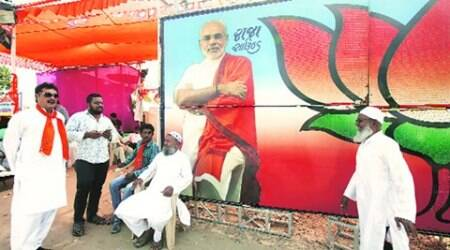 In 2002 Gujarat riot colony, BJP opens an election office