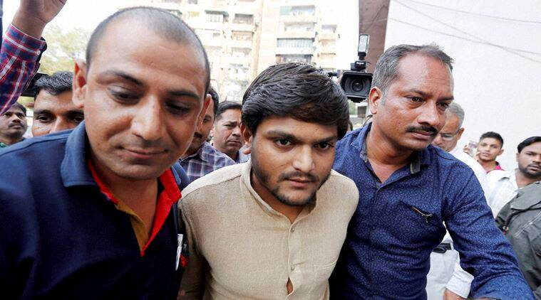 Ahmedabad: Patidar Community leader Hardik Patel being produced in a court in Ahmedabad on Tuesday. PTI Photo (PTI11_3_2015_000175B)