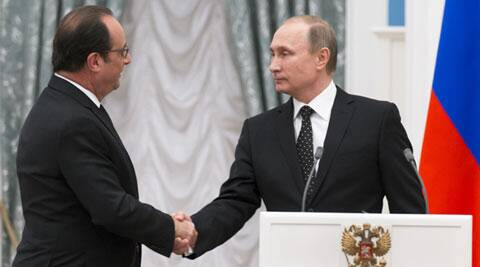 Francois hollande, vladimir putin, france, russia, islamic state, is, islamic state attack, russia attack islamic state, france attack islamic state, world news