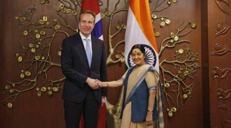 UNSC, India UNSC memebership, Norway India ties, India UNSC permanent membership, sushma swaraj, Borge Brende, india news, norway news, latest news