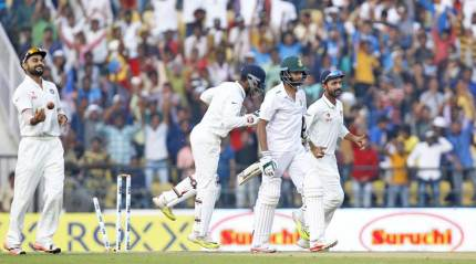 India hit back after South Africa spin web