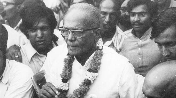 Jayaprakash Narayan's movement ended the free run of the Congress. (Source: Express photo by R K Sharma)