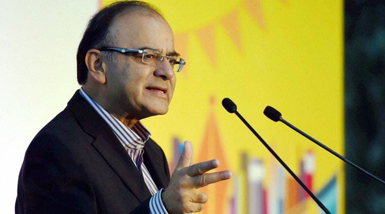 Union Finance Minister Arun Jaitley addressing during the Times Litfest in New Delhi on Saturday. (PTI Photo)
